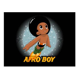 Muchacho del Afro Tarjeta Postal