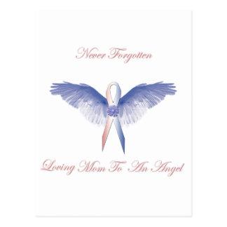Muchacho del ángel de SIDS perdido Tarjetas Postales