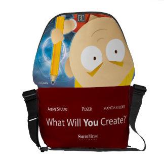 Muchacho del animado - la bolsa de mensajero del bolsas de mensajeria