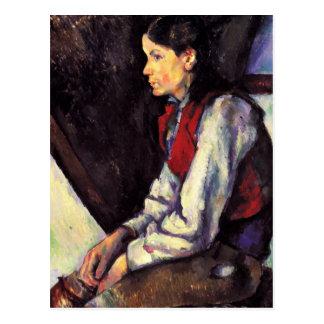 Muchacho del arte de la pintura de Paul Cezanne co Postales