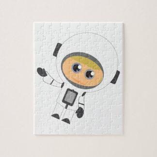 Muchacho del astronauta rompecabezas