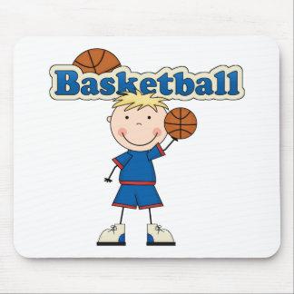 Muchacho del baloncesto tapetes de raton