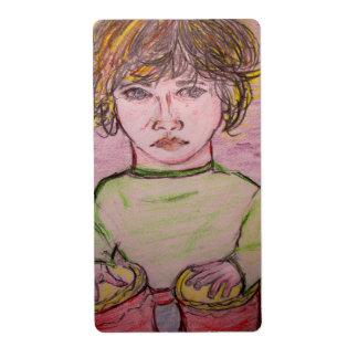 muchacho del bongo etiqueta de envío