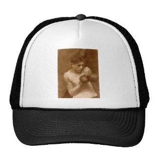 Muchacho del boxeador del vintage gorras