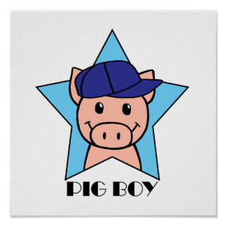 Muchacho del cerdo poster
