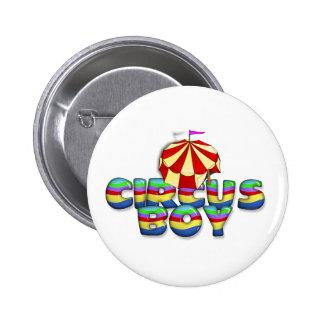 Muchacho del circo de la CAMISETA Pin Redondo De 2 Pulgadas