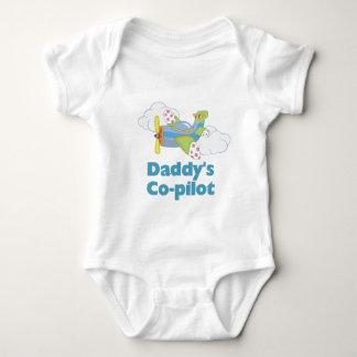 Muchacho del copiloto del papá body para bebé