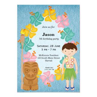 """Muchacho del cumpleaños de Hawaii Invitación 5"""" X 7"""""""