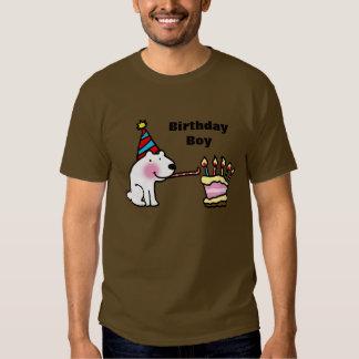 Muchacho del cumpleaños de la celebración del camisas