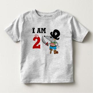 muchacho del cumpleaños del pirata de 2 años playera