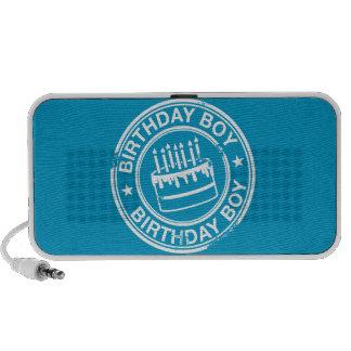 Muchacho del cumpleaños - efecto blanco del sello  iPod altavoces