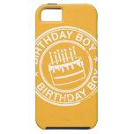 Muchacho del cumpleaños - efecto blanco del sello  iPhone 5 Case-Mate cárcasas