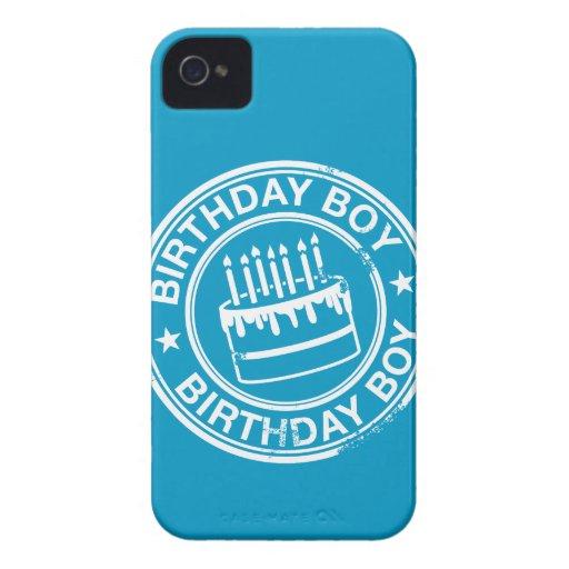 Muchacho del cumpleaños - efecto blanco del sello  iPhone 4 Case-Mate fundas