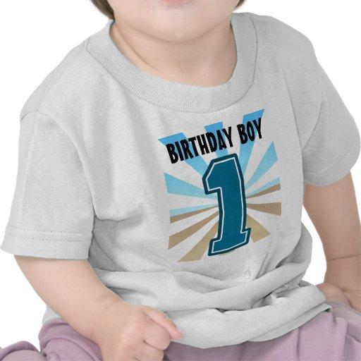 Muchacho del cumpleaños, número grande uno, primer