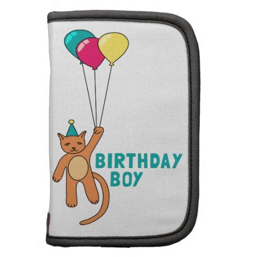 Muchacho del cumpleaños organizador