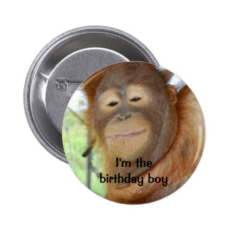 Muchacho del cumpleaños pin