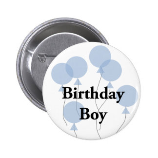 Muchacho del cumpleaños pin redondo 5 cm