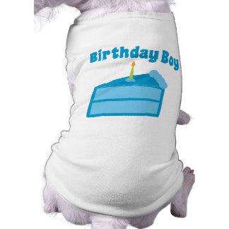 Muchacho del cumpleaños playera sin mangas para perro