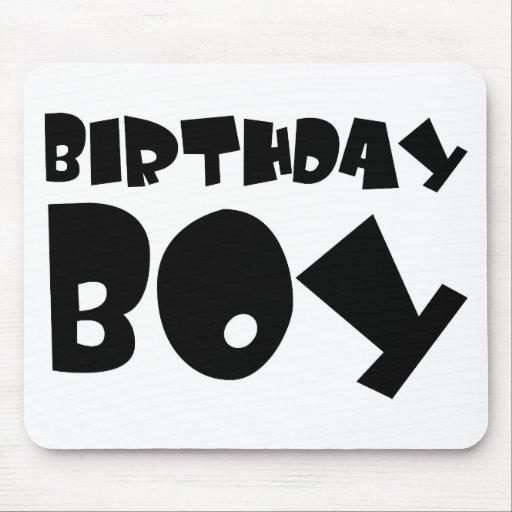 muchacho del cumpleaños tapete de raton