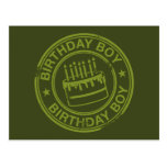 Muchacho del cumpleaños - verde del efecto del sel postal
