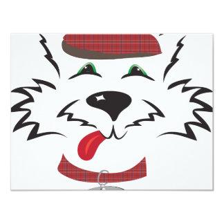 Muchacho del escocés invitación 10,8 x 13,9 cm