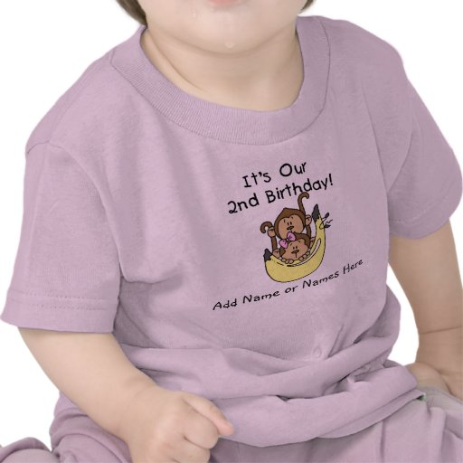 Muchacho del gemelo del mono y camiseta modificado