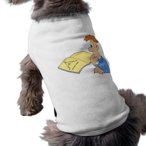 Muchacho del genio camiseta de perrito