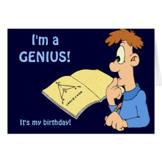 Muchacho del genio tarjeta de felicitación