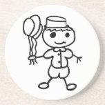 Muchacho del globo de Stickman Posavasos Diseño