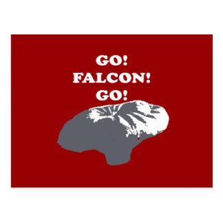 Muchacho del globo - va el halcón va postales