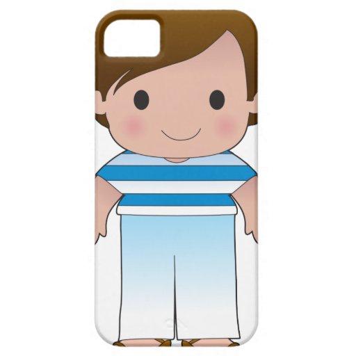 Muchacho del Griego de la amapola iPhone 5 Case-Mate Carcasa