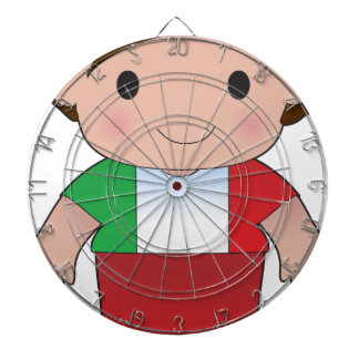Muchacho del italiano de la amapola tablero de dardos