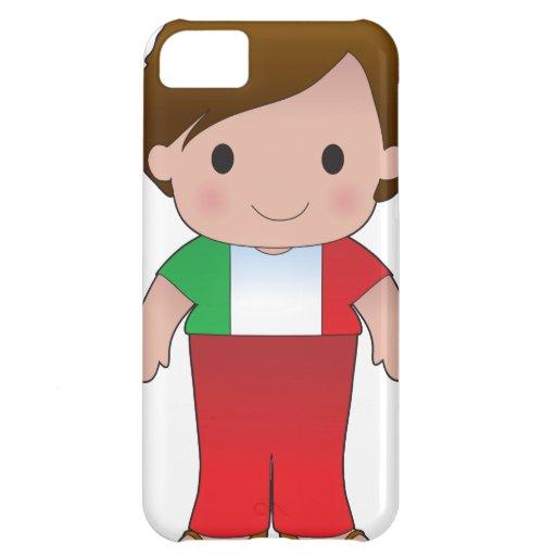 Muchacho del italiano de la amapola funda para iPhone 5C