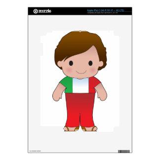 Muchacho del italiano de la amapola iPad 3 pegatinas skins