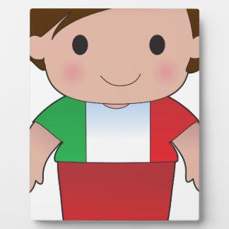 Muchacho del italiano de la amapola placa
