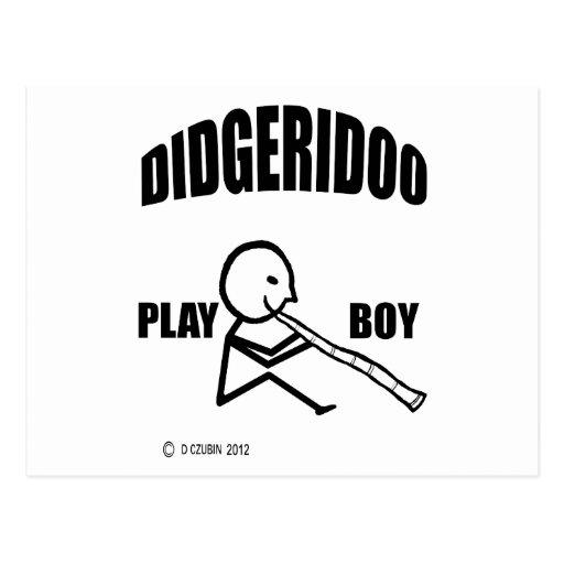 Muchacho del juego de Didgeridoo Tarjetas Postales