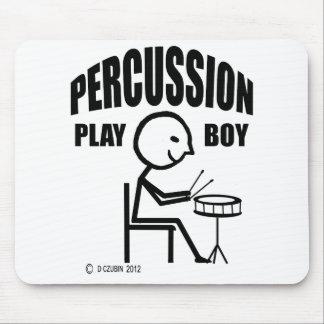 Muchacho del juego de la percusión alfombrillas de ratones