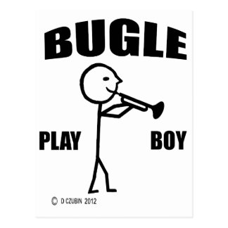 Muchacho del juego del bugle tarjeta postal