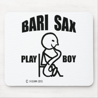 Muchacho del juego del saxofón de Bari Tapete De Ratón