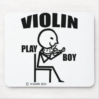 Muchacho del juego del violín tapetes de ratones