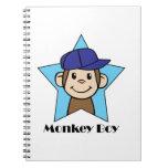 Muchacho del mono cuadernos