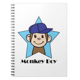 Muchacho del mono notebook
