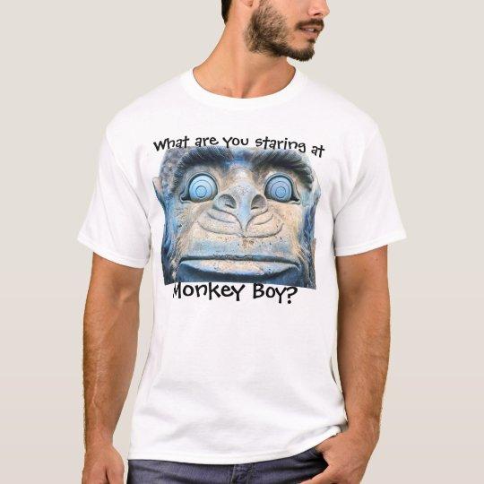 Muchacho del mono playera