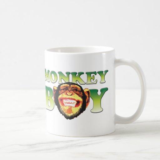 Muchacho del mono taza