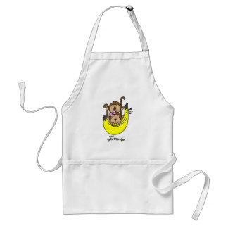 Muchacho del mono y camisetas y regalos gemelos de delantales