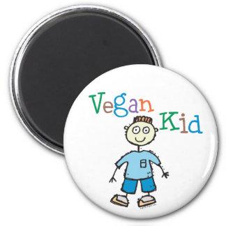 Muchacho del niño del vegano imanes para frigoríficos