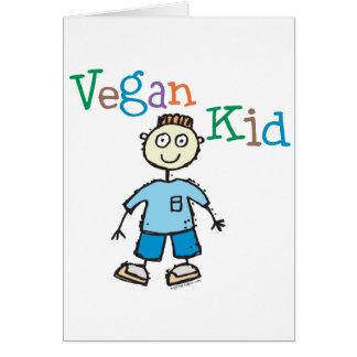 Muchacho del niño del vegano tarjeta de felicitación