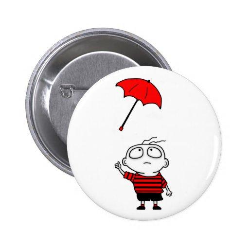 Muchacho del paraguas pins