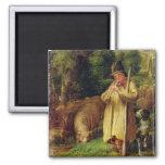 Muchacho del pastor, 1831 (aceite en el panel) iman para frigorífico