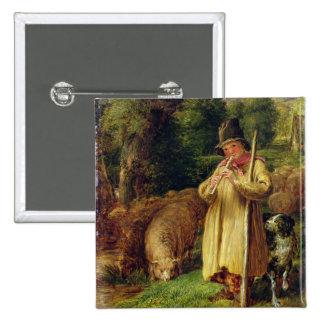 Muchacho del pastor, 1831 (aceite en el panel) pin cuadrada 5 cm